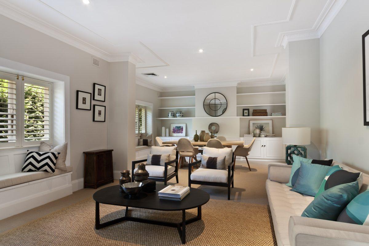 Modern living room remodeling