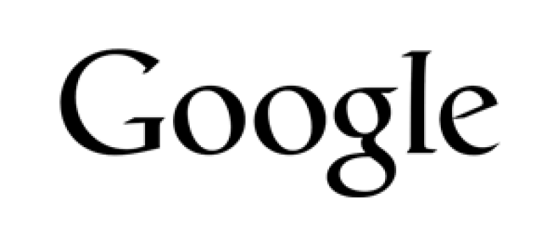 Google black logo for webpage