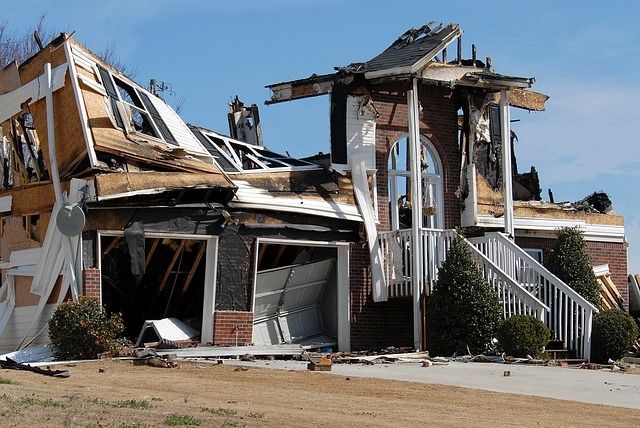Restoration of house destroyed by fire