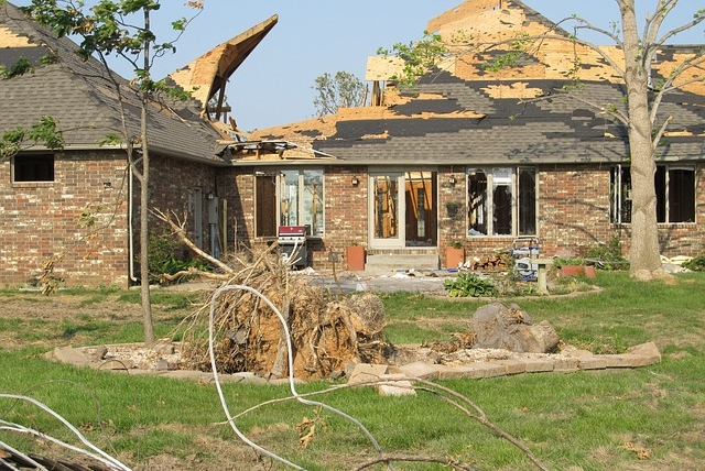 Restoration of house after tornado